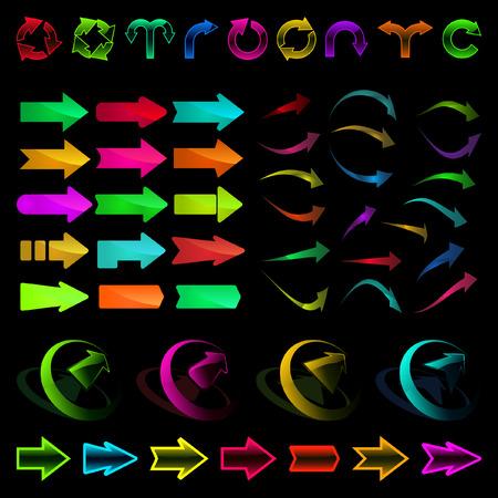 A vector set of useful arrows. Stock Vector - 6085302