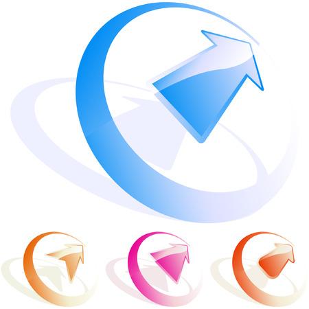 Arrow impostare vettoriale per il web design.   Vettoriali