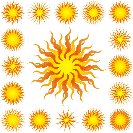 Sunburst abstract vector. Great collection.   Vector