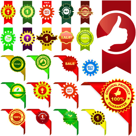 Set of vector corner ribbons for sale Stock Vector - 6085380