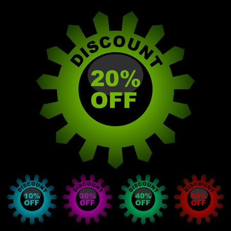 Discount label templates with different percentages   Stock Vector - 6084928