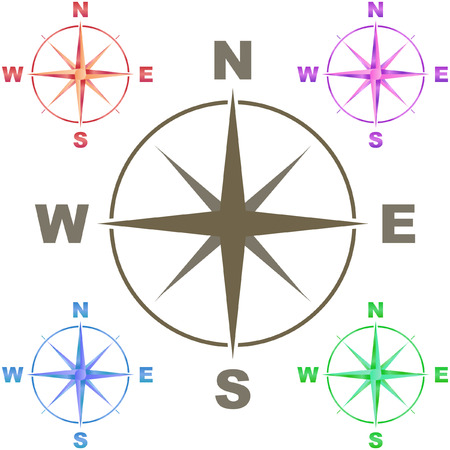 Vector compass. Graphic elements set.    Vector