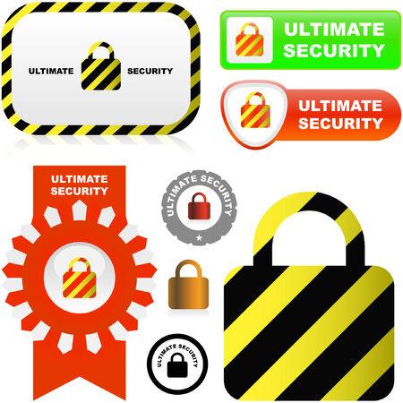 Lock icon. Vector set for web. Stock Vector - 6085013