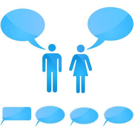 Vector speech bubble. Vector set.    Stock Vector - 6084679