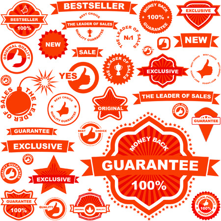 Vector collection of sale labels. Great collection. Stock Vector - 6085354