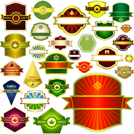 Set of design labels. Great collection. Stock Vector - 6085408