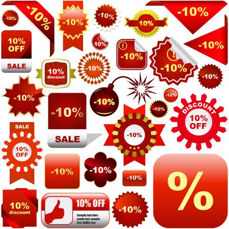 hot announcement: Conjunto de etiquetas de venta y etiquetas