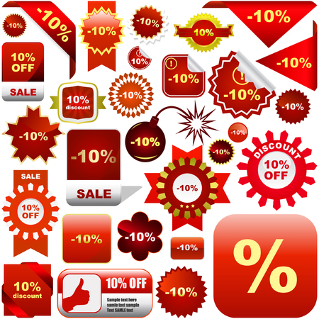 Set of sale labels and tags Stock Vector - 6085350