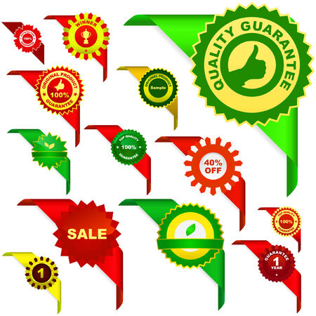 selling off: Set of vector corner ribbons for sale. Great collection.   Illustration