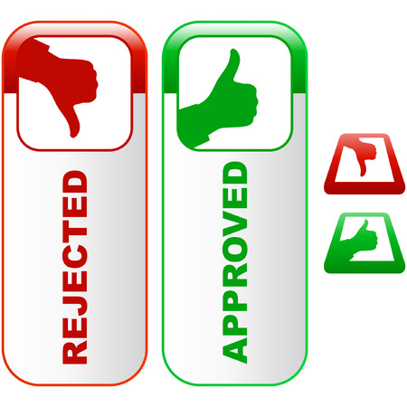 Approved and rejected icons. Stock Vector - 6095276