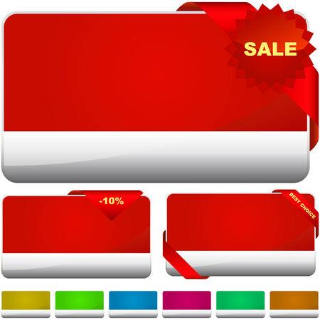 buono sconto: Insieme vettoriale di vendita banner