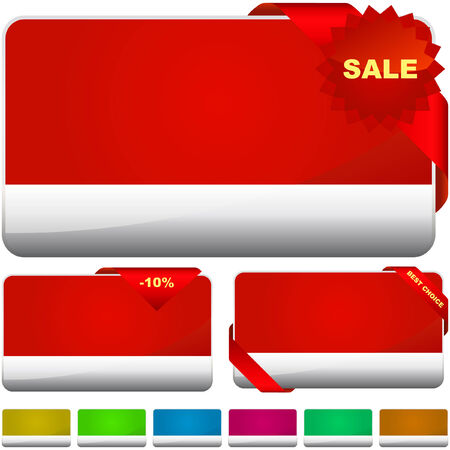 Vector collection of sale banners   Stock Vector - 6095302