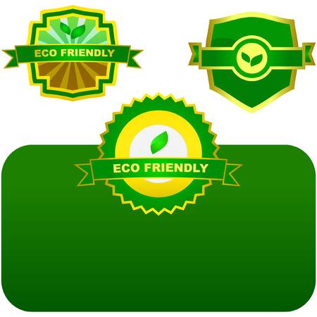 Eco labels.   Vector