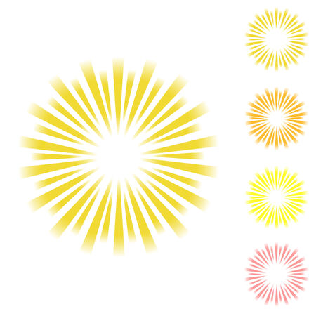 Sunburst vector.   Vector