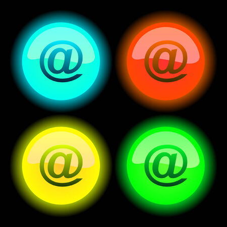 E-mail icon set for web.   Stock Vector - 6095277