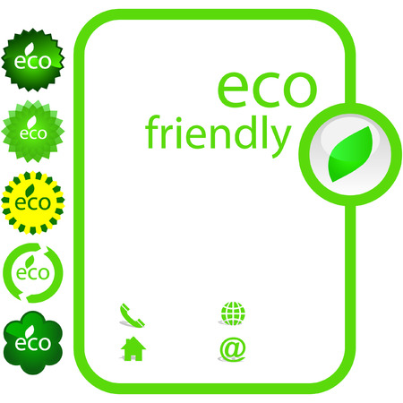 ecology emblem: Set of natural labels.