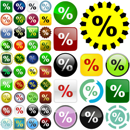 increment: Percent button set.   Illustration