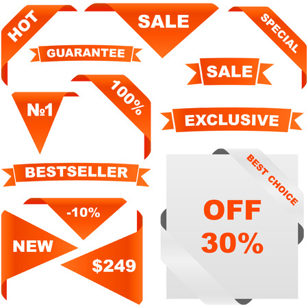 Set of design elements for sale. Stock Vector - 6095297