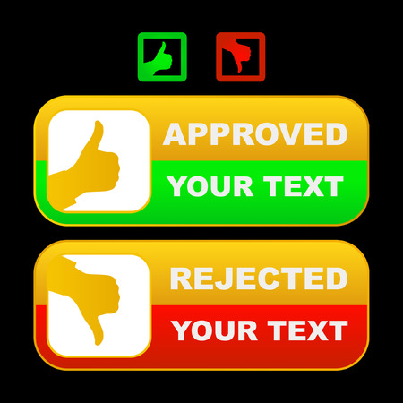 Approved and rejected buttons.    Stock Vector - 6095442