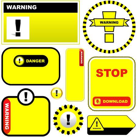 Warning vector signs. Vector template. Stock Vector - 6097913