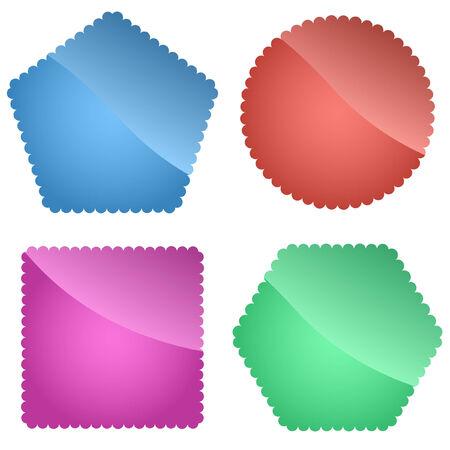 ornamente: Set of design labels. Vector set.   Illustration