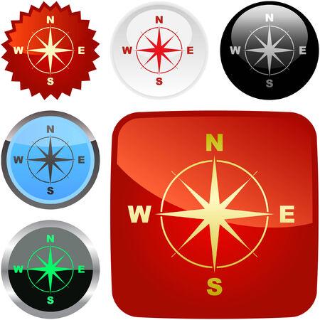 Vector compass. Graphic elements set. Stock Vector - 6095568