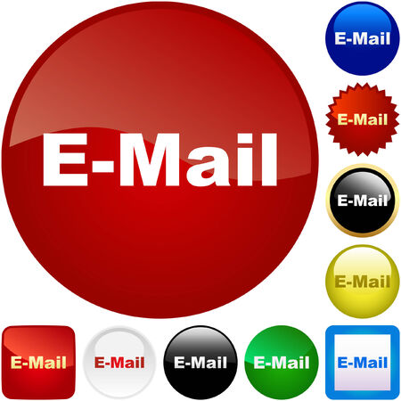 E-mail icon set for web. Stock Vector - 6095582