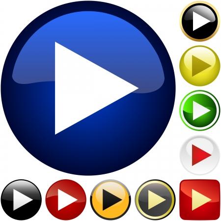 triangle button: Vector jugar conjunto de bot�n   Vectores