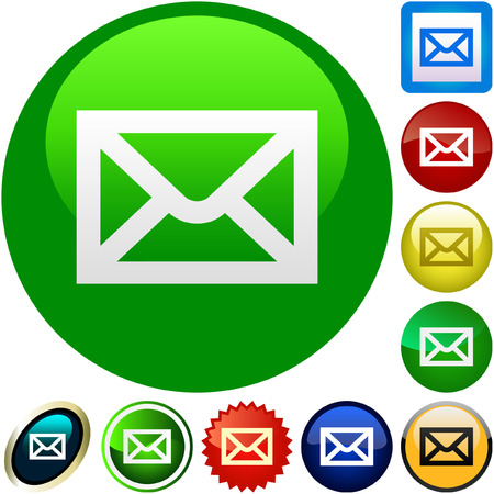 web icons communication: E-mail icon set for web.   Illustration