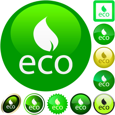 Set of eco buttons. Vector collection.  Vector