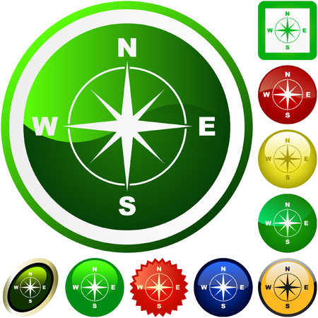 Vector compass. Graphic elements set.    Stock Vector - 6097892