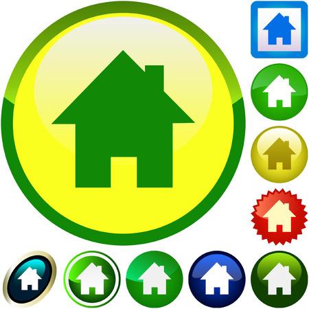 installateur: De pictogrammen van het huis. Grafische elementen instellen.