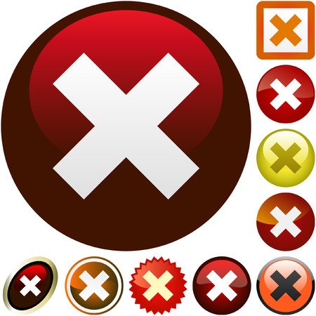 Rejected vector buttons. Stock Vector - 6095519