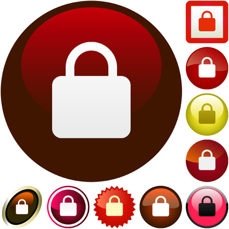 Lock icon. Vector set for web. Stock Vector - 6095548