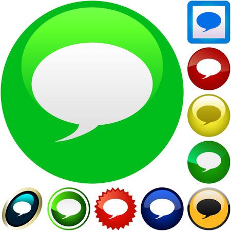 chat room: Vector speech bubble. Vector set.