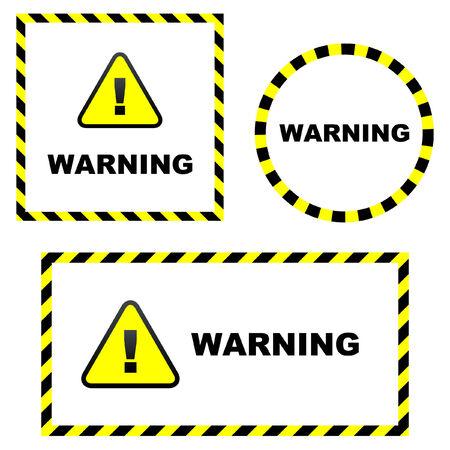 Warning vector signs. Vector template. Stock Vector - 6095401