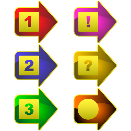 3 point perspective: Arrow set vector. Set of design elements.  Illustration