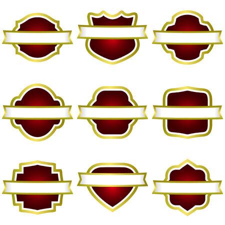 Set of design labels. Vector set.   Vector