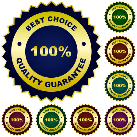 Set of quality guaranteed seals.   Stock Vector - 6098049