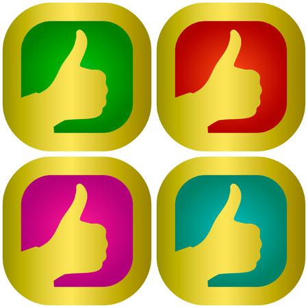 Thumbs up. Set of design elements. Stock Vector - 6095381