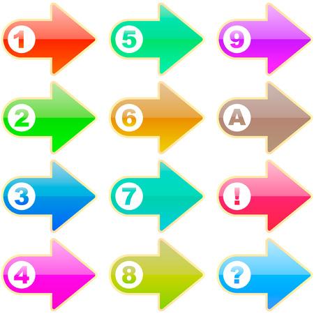 3 point perspective: Arrow set vector. Set of design elements.