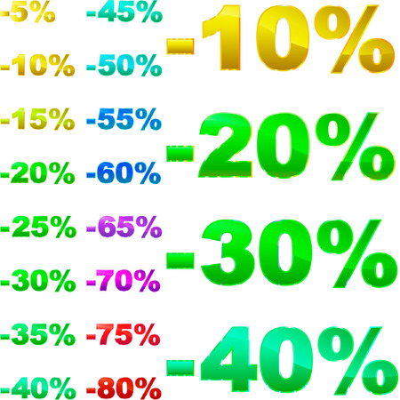 Discount templates. Stock Vector - 6098205