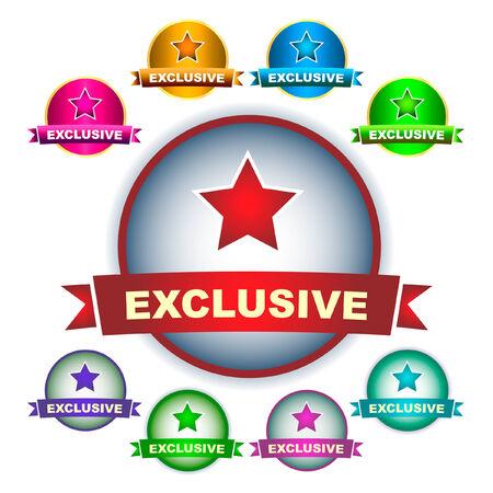 guaranree: Exclusive vector emblem. Vector set.   Illustration