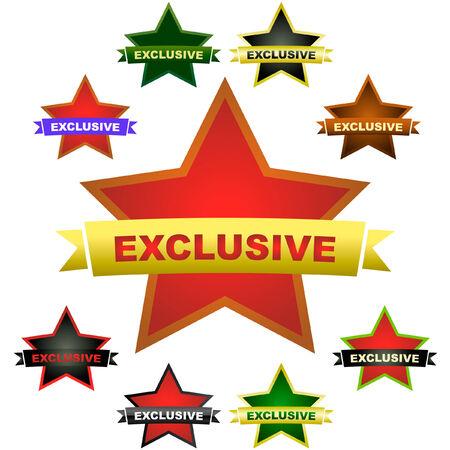 Exclusive vector emblem. Vector set. Stock Vector - 6097893