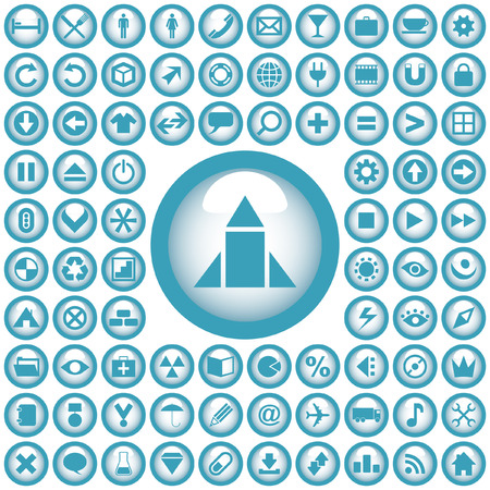Vector great collection of web buttons. Stock Vector - 6097999