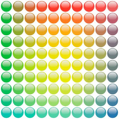 Vector icon set. Rainbow collection. Stock Vector - 6098109