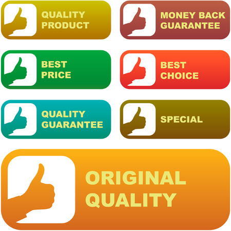 Collection of sale signs Stock Vector - 6095536