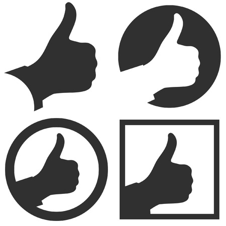 Thumbs up. Set of design elements. Vector