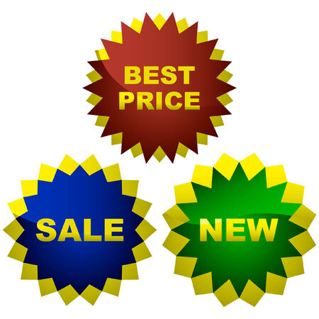 Vector collection of sale labels Stock Vector - 6095464
