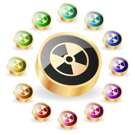 Alert button. Vector set.   Stock Vector - 6331845